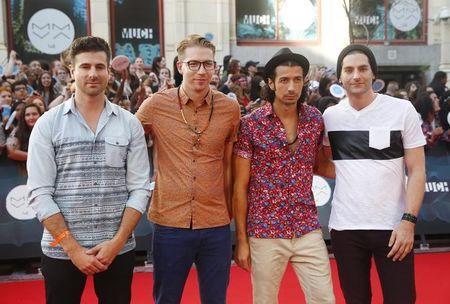 Members of the band Magic! arrive on the red carpet at the MuchMusic Video Awards (MMVA) in Toronto