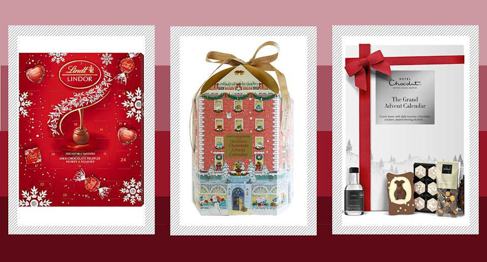 Chocolate advent calendars never go out of fashion.  From Lindt and Cadbury to Hotel Chocolat and Fortnum & Mason, there is something for everyone.  (Yahoo Style UK)