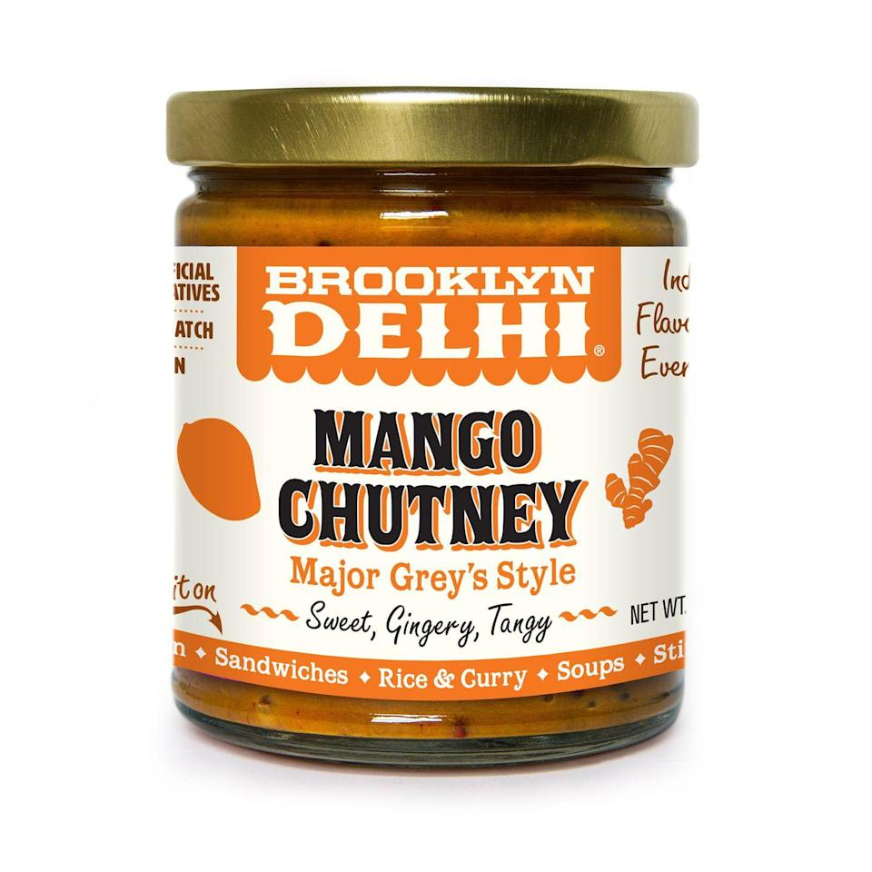 """<p>Delicately spiced, this mango-golden raisin mixture provides a nice sweet contrast to salty fries.</p><p><em><strong>$11, Brooklyndelhi.com</strong></em></p><p><a class=""""link rapid-noclick-resp"""" href=""""https://brooklyndelhi.com/collections/frontpage/products/sweet-mango-chutney?variant=32184639258727"""" rel=""""nofollow noopener"""" target=""""_blank"""" data-ylk=""""slk:Buy Now"""">Buy Now</a></p>"""