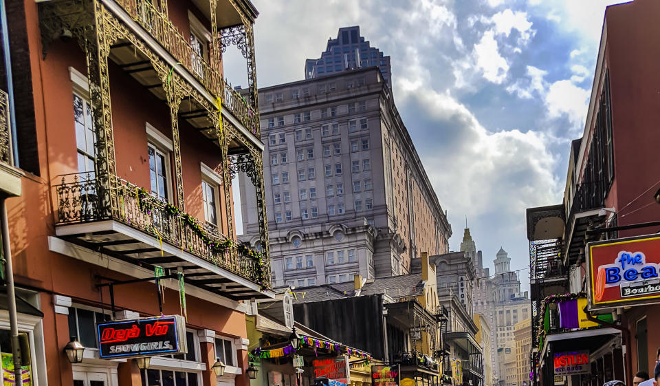 New Orleans: Pubs and bars in the French Quarter after the Mardi Gras, New Orleans on March 1, 2017