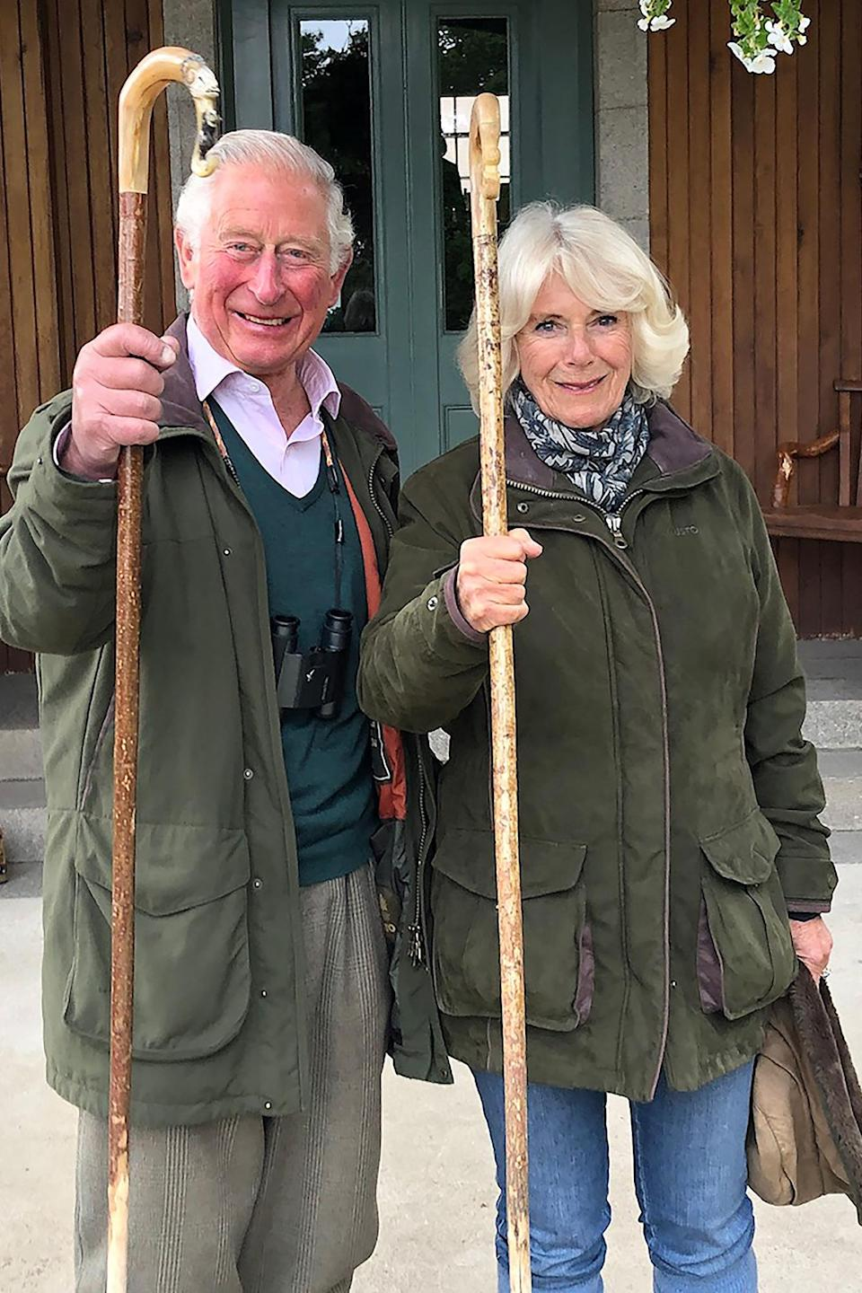 <p>Prince Charles and Camilla, Duchess of Cornwall were all smiles in Birkhall, Scotland.</p>