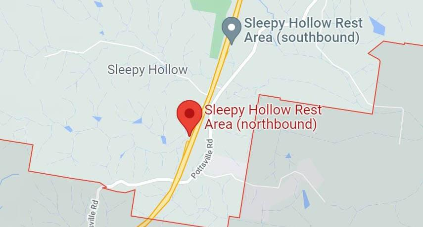 A map of the Sleepy Hollows rest area. Source: Supplied