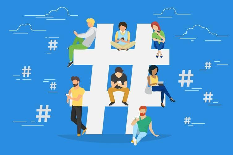 "<span class=""caption"">Universities looking to bridge the social media gap between them and their students are increasingly exploring hashtags.</span> <span class=""attribution""><span class=""source"">Shutterstock</span></span>"