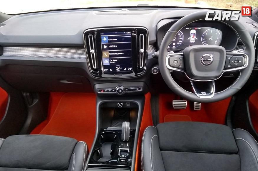 Volvo XC40 black and lava cabin. (Image: Arjit Garg/News18.com)