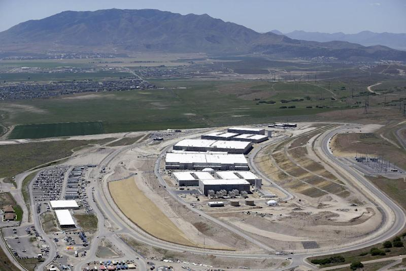 FILE - In this June 6, 2013, file photo, shows an aerial view of the NSA's Utah Data Center in Bluffdale, Utah. Electrical failures are complicating the opening of the National Security Agency's largest data storage center. The Army Corps of Engineers says it discovered the problem during tests ahead the fall opening of the $1.7 billion facility located south of Salt Lake City on a National Guard base. (AP Photo/Rick Bowmer, File)