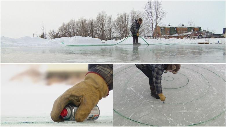 Backyard hockey rink? Hold my beer says Alberta man, who built 2 curling sheets for bonspiel fundraiser