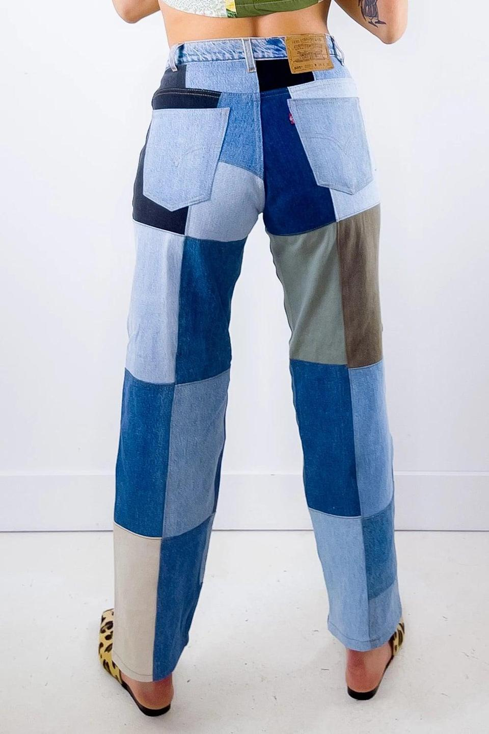 <p><span>Reworked Patchwork Levi Jeans</span> ($102)</p>