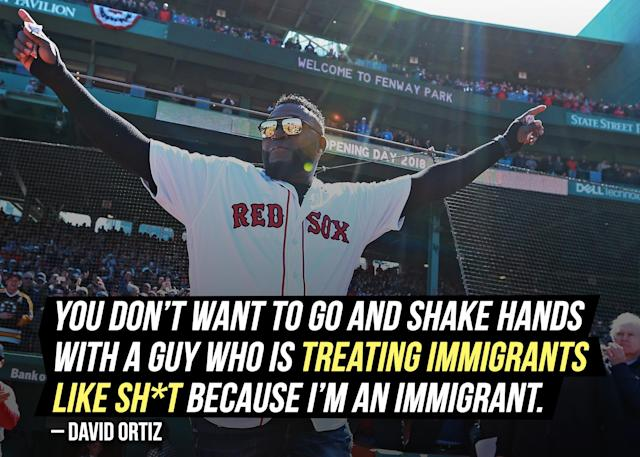 Ex-Red Sox star David Ortiz shared his opinion on the 2018 World Series champs both boycotting and visiting the White House invite.