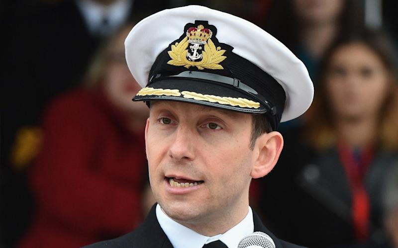 "Cdr Stuart Armstrong, the boat's commander, was earlier this week revealed to have been relieved of his duties after allegations his relationship with a female subordinate was ""closer than it should have been"" - Getty Images Europe"