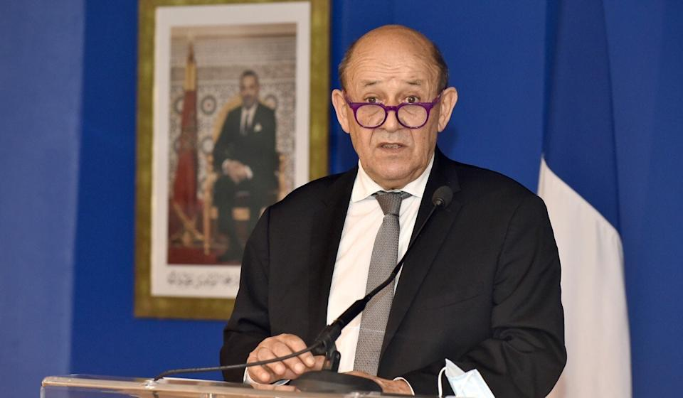 """French Foreign Minister Jean-Yves Le Drian last week called for the EU and the US to """"consult each other"""" to coordinate their approach on China. Photo: Xinhua"""