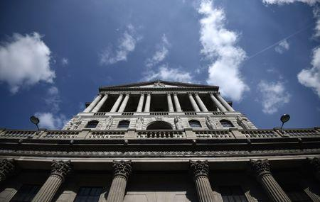 A general view shows the Bank of England in the City of London