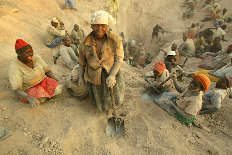 "FILE -- In this Wednesday, Nov. 1, 2006 file photo  miners dig for diamonds in Marange, eastern Zimbabwe.  At least $2 billion worth of diamonds have been stolen from Zimbabwe's eastern diamond fields and have enriched President Robert Mugabe's ruling circle, international gem dealers and criminals, according to an organization leading the campaign against conflict diamonds. Zimbabwe's Marange fields have seen ""the biggest plunder of diamonds since Cecil Rhodes,"" the colonial magnate who exploited South Africa's Kimberley diamonds a century ago, charged Partnership Africa Canada, a member of the Kimberley Process, the world regulatory body on the diamond trade.  (AP Photo/Tsvangirayi Mukwazhi-File)"
