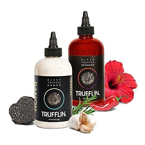 """<p><strong>Trufflin</strong></p><p>amazon.com</p><p><strong>$44.99</strong></p><p><a href=""""https://www.amazon.com/dp/B08K3KRWYM?tag=syn-yahoo-20&ascsubtag=%5Bartid%7C10070.g.964%5Bsrc%7Cyahoo-us"""" rel=""""nofollow noopener"""" target=""""_blank"""" data-ylk=""""slk:Shop Now"""" class=""""link rapid-noclick-resp"""">Shop Now</a></p><p>These chef-curated black truffle sauces come packaged in a pretty black-and-gold box complete with a black truffle print, so you won't have to even bother with wrapping. </p>"""