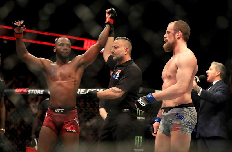 Edwards is now the highest ranked male English fighter in the UFC. (PA)