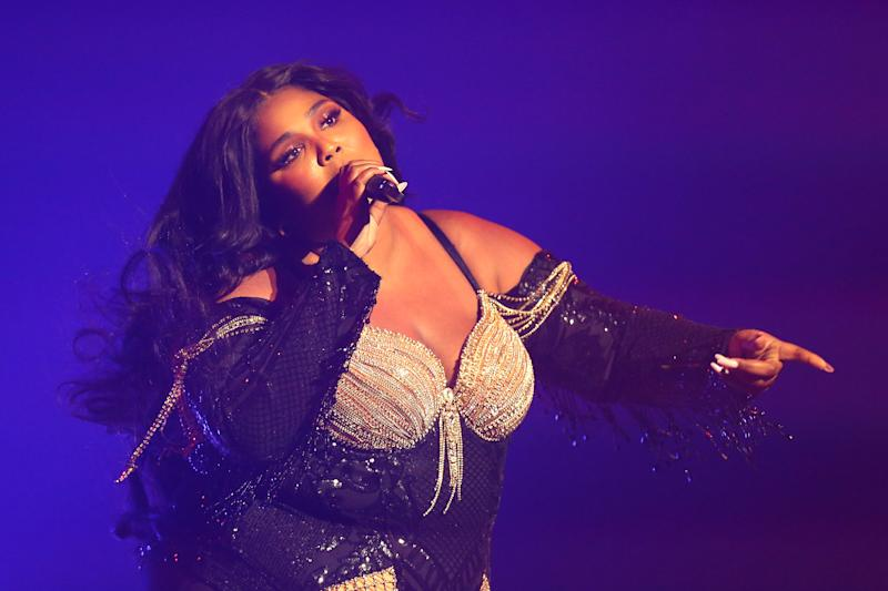 Lizzo performs at Sydney Opera House on January 06, 2020 in Sydney, Australia. (Photo by Don Arnold/Getty Images)