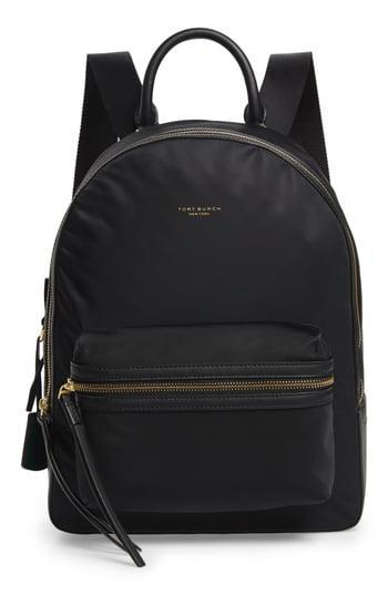 """<br> <br> <strong>Tory Burch</strong> Perry Nylon Backpack, $, available at <a href=""""https://go.skimresources.com/?id=30283X879131&url=https%3A%2F%2Fwww.nordstrom.com%2Fs%2Ftory-burch-perry-nylon-backpack%2F5345926%3Fcolor%3Dblack"""" rel=""""nofollow noopener"""" target=""""_blank"""" data-ylk=""""slk:Nordstrom"""" class=""""link rapid-noclick-resp"""">Nordstrom</a>"""