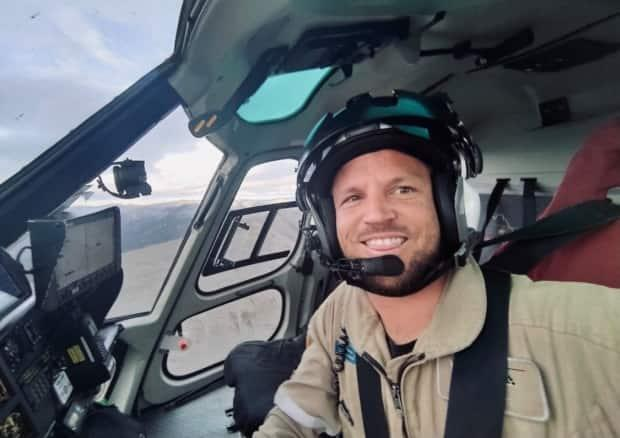 Steven Page, 36, was one of three men who died after a helicopter belonging to Great Slave Helicopters went down outside of Resolute Bay, Nunavut. (Submitted by Sandra Soares - image credit)