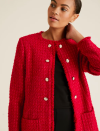 """<p><a class=""""link rapid-noclick-resp"""" href=""""https://go.redirectingat.com?id=127X1599956&url=https%3A%2F%2Fwww.marksandspencer.com%2Ftweed-straight-longline-blazer%2Fp%2Fclp60454774%23intid%3DprodColourId-60472356&sref=https%3A%2F%2Fwww.redonline.co.uk%2Ffashion%2Fshopping%2Fg34625942%2Fmarks-and-spencer-womenswear-sale%2F"""" rel=""""nofollow noopener"""" target=""""_blank"""" data-ylk=""""slk:SHOP HERE"""">SHOP HERE </a><strong>Was £89, Now £62.30</strong></p><p>This Chanel-esque blazer brings both classic, sophisticated style and a pop of colour to your winter wardrobe. Plus, it's the perfect throw-on when you're caught unawares for an impromptu Zoom meeting. </p>"""