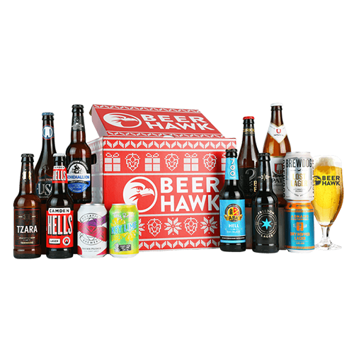 """<p><a class=""""link rapid-noclick-resp"""" href=""""https://go.redirectingat.com?id=127X1599956&url=https%3A%2F%2Fwww.beerhawk.co.uk%2Flager-christmas-crate-12-beers-and-a-glass%3Fnostodp%3Ddgxyrntael%26gclid%3DCj0KCQiAwf39BRCCARIsALXWETxhQnJ0P2e9sa7JzAw80wbrP8oE1Th5YIkU0penm-7OepZ48bKakG4aAlRyEALw_wcB&sref=https%3A%2F%2Fwww.esquire.com%2Fuk%2Ffood-drink%2Fg34714919%2Fbest-christmas-hampers%2F"""" rel=""""nofollow noopener"""" target=""""_blank"""" data-ylk=""""slk:SHOP"""">SHOP</a></p><p>What do you get someone who really, really likes beer? We have just the thing! It's a box of beer. Not exactly imaginative, sure, but it'll be very warmly received. Beer Hawk's curated Christmas 2020 line-up includes 12 lovely craft lagers – including Birra Del Borgo Lisa, Brewdog's Lost Lager Can and Vocation Yakima Pilsner – and a beer glass. Top stuff.<br></p>"""