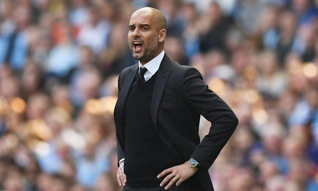 "<span class=""element-image__caption"">'If it was the chairman's expectation to win all the titles, then we have missed and we need to improve,' says Pep Guardiola.</span> <span class=""element-image__credit"">Photograph: Shaun Botterill/Getty Images</span>"