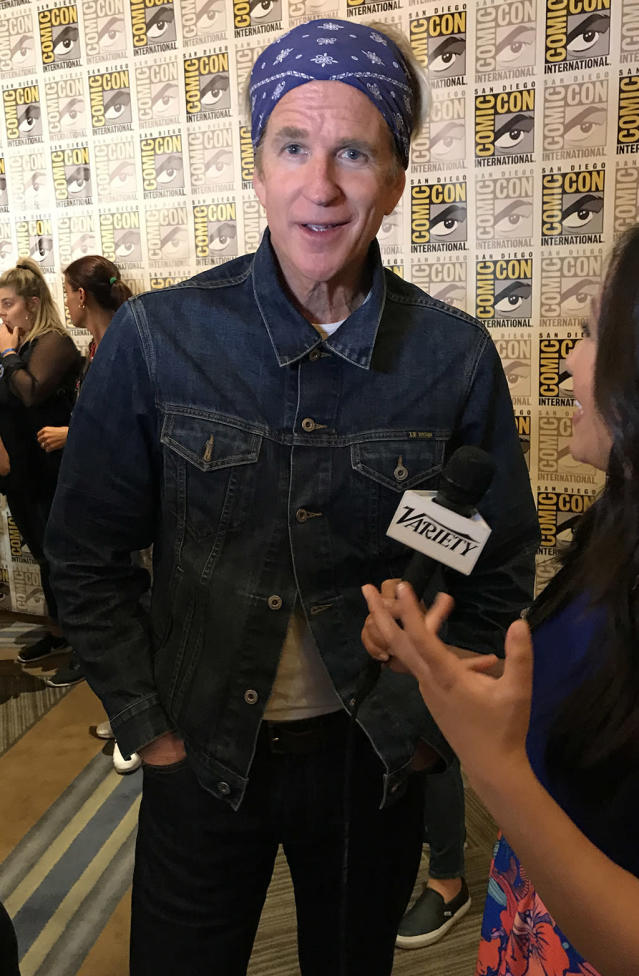 <p>Matthew Modine is a natural on the Comic-Con red carpet, so it's hard to believe this is the first time he has ever attended the star-studded pop culture festival.<br><br>(Photo: Giana Mucci/Yahoo) </p>