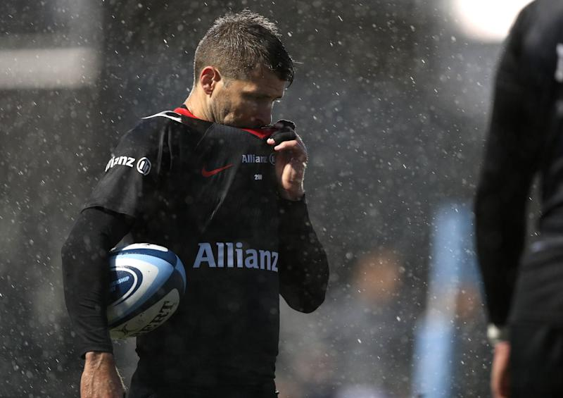 Saracens' Richard Wigglesworth during the Gallagher Premiership match at the Allianz Stadium, London. (Photo by Andrew Matthews/PA Images via Getty Images)