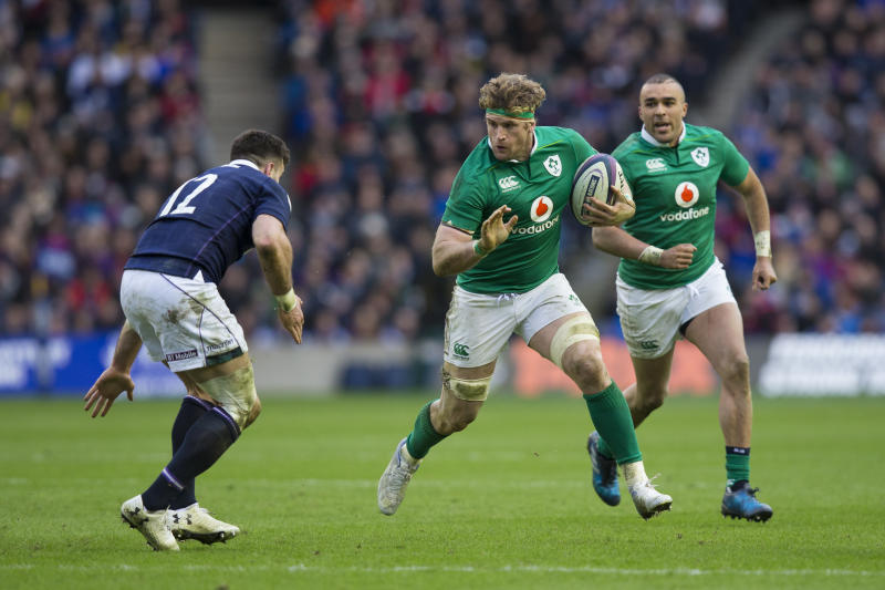 EDINBURGH, SCOTLAND - FEBRUARY 04: Ireland's Jamie Heaslip in action during the RBS Six Nations Championship match between Scotland and Ireland at Murrayfield Stadium on February 4, 2017 in Edinburgh, Scotland. (Photo by Craig Mercer - CameraSport via Getty Images)