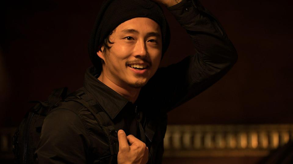 """<p>Next up was Yeun's role as K in director Bong Joon-ho's <em>Okja </em>(2017)<em>,</em> which was written specifically with him in mind. The star told <a href=""""https://www.vulture.com/2017/07/steven-yeun-interview-okja-walking-dead.html"""" rel=""""nofollow noopener"""" target=""""_blank"""" data-ylk=""""slk:Vulture"""" class=""""link rapid-noclick-resp""""><em>Vulture</em></a>'s E. Alex Jung that he received an email from Bong that said, """"I wrote something for you."""" Without hesitation, Yeun accepted and found that his part as the film's Korean American radical animal rights activist allowed him to experience a kinship with his character in a way he hadn't before in other roles.</p> <p>""""Director Bong is a Korean native, and he's gracious and intelligent enough to know there is a Korean-American struggle and put light to it,"""" Yeun explained to Jung, who is also Korean American. """"But the nuances are still specific to me and you in a way they're not to him, and we got to explore it to his extent.""""</p> <p>""""I'd love to see something more, but it is interesting to have an experience as a Korean-American that nobody else is going to be able to do,"""" he added. """"That's awesome.""""</p>"""