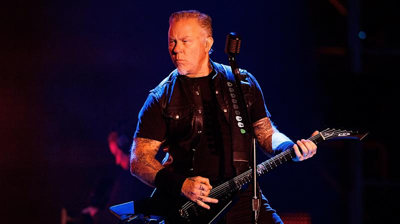 Metallica's James Hetfield Takes A Spill Onstage In Amsterdam