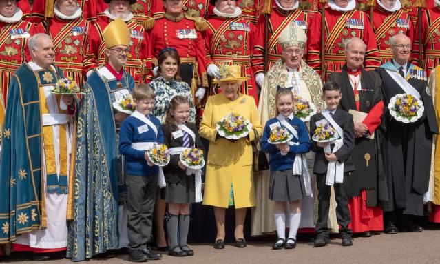 Queen Elizabeth at the 2019 Maundy Service. This year's will be cancelled. (Getty Images)