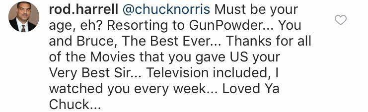 (Screenshot: Chuck Norris via Instagram)