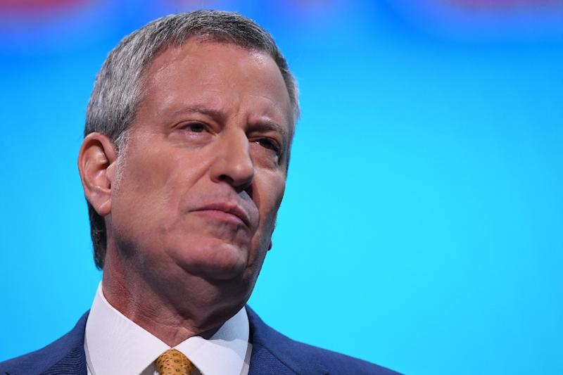 """New York Mayor Bill de Blasio said it was time for """"a more muscular approach"""" to the resurgence of measles in parts of the city (AFP Photo/Jim WATSON)"""