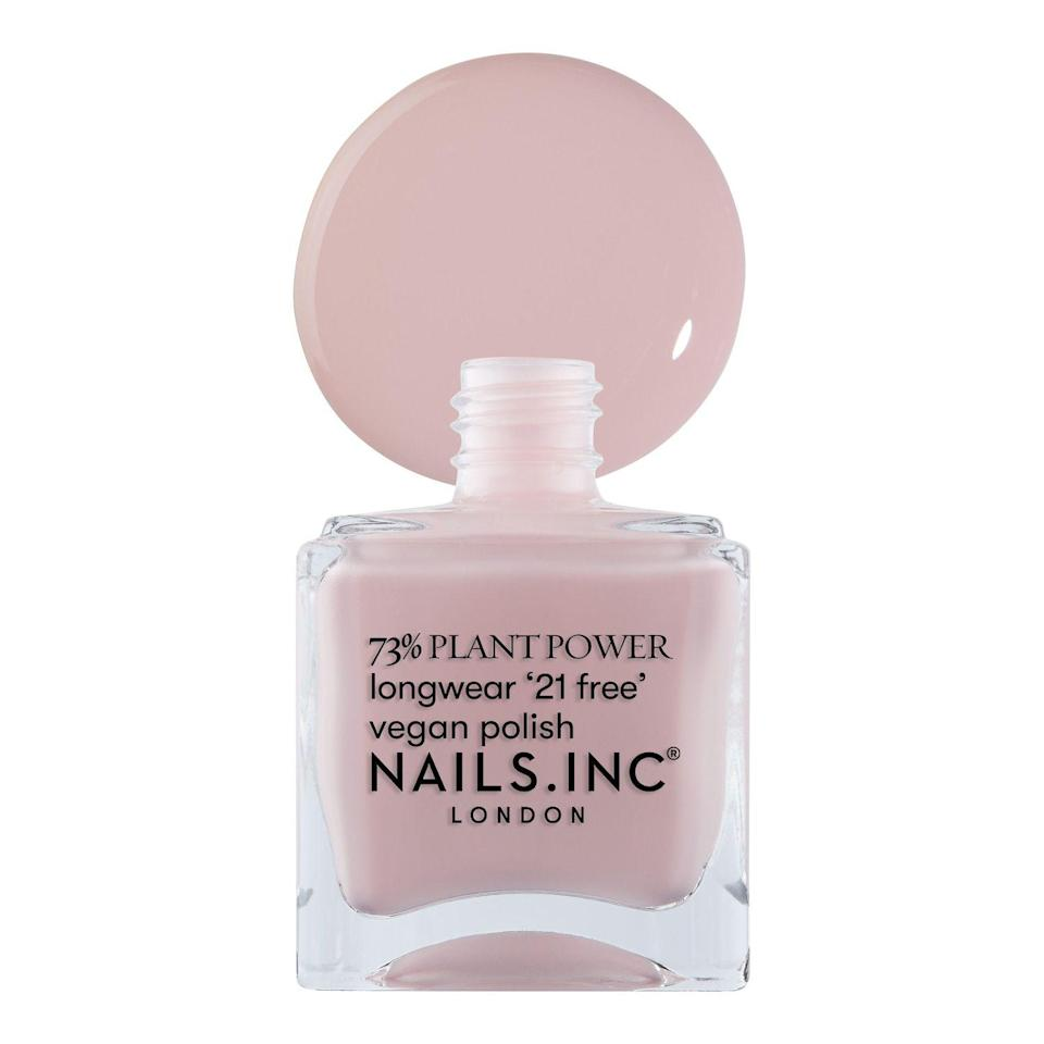 """<p><strong>NAILS INC.</strong></p><p>sephora.com</p><p><strong>$10.00</strong></p><p><a href=""""https://go.redirectingat.com?id=74968X1596630&url=https%3A%2F%2Fwww.sephora.com%2Fproduct%2Fnails-inc-nailkale-plant-power-nail-polish-P460419&sref=https%3A%2F%2Fwww.countryliving.com%2Flife%2Fg34732152%2Fwinter-nail-colors%2F"""" rel=""""nofollow noopener"""" target=""""_blank"""" data-ylk=""""slk:Shop Now"""" class=""""link rapid-noclick-resp"""">Shop Now</a></p><p>So appropriate for Valentine's Day (or really, any day), sweet and sassy pink nude polish adds a feminine flavor to nails. For a decidedly V-Day look, try an accent nail or two with a red embellishment (perhaps a heart).</p>"""