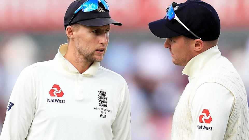 Joe Root and Jason Roy, pictured here in action during the fourth Ashes Test.