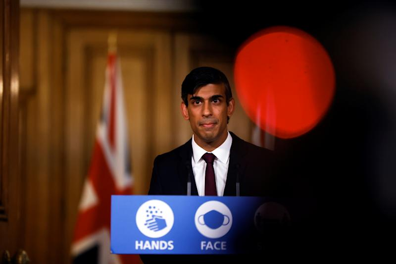 Britain's Chancellor of the Exchequer Rishi Sunak attends a virtual news conference, amid the spread of the coronavirus disease (COVID-19), in London, Britain September 24, 2020. REUTERS/John Sibley/Pool