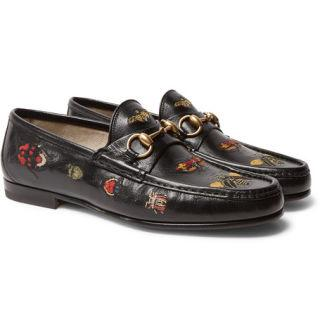 """<p>Look, if you don't own a pair of Gucci loafers yet then HELLO, IT'S 2017! Anyway, it's not all doom and gloom loafer-less friends. If you're late to the Gucci party then at least you're in time to get these beetle-embroidered bad boys, which will really tell the world you're in the club. </p><p><em>Gucci, Embroidered Horsebit Leather Loafers, £725, <a rel=""""nofollow"""" href=""""https://www.mrporter.com/en-gb/mens/gucci/embroidered-horsebit-leather-loafers/941215?ppv=2"""">mrporter.com</a></em></p>"""