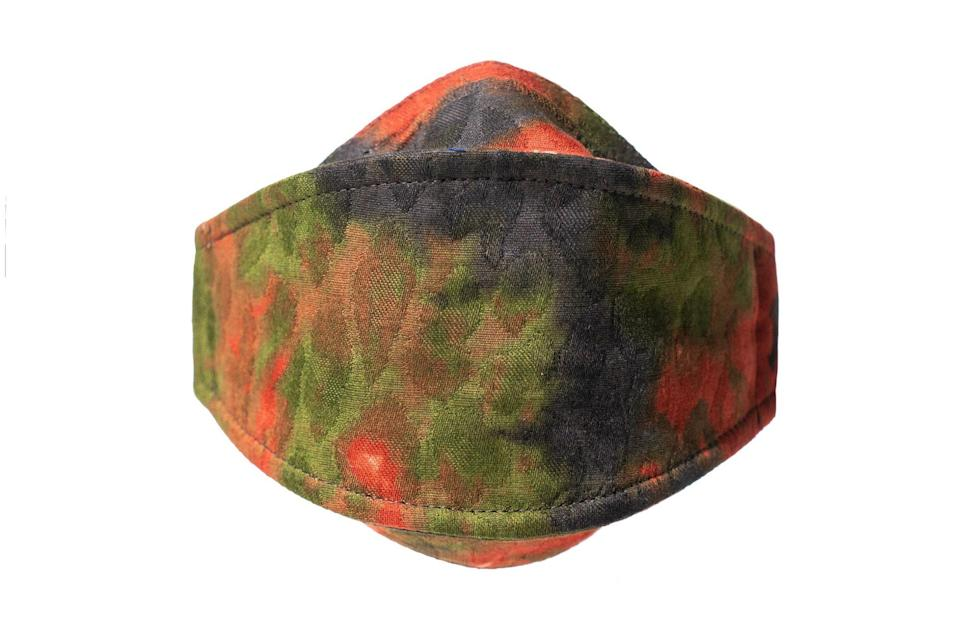 """$40, Goodfight. <a href=""""https://gdfht.com/collections/new/products/red-camo-salvage-program-mark-i-mask"""" rel=""""nofollow noopener"""" target=""""_blank"""" data-ylk=""""slk:Get it now!"""" class=""""link rapid-noclick-resp"""">Get it now!</a>"""
