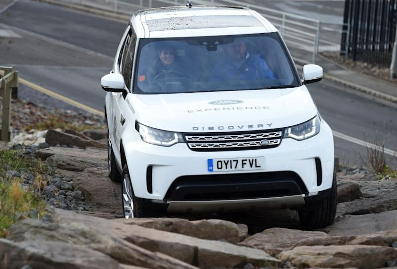 Kate Middleton got behind the wheel for an off-road challenge. Photo: Getty Images