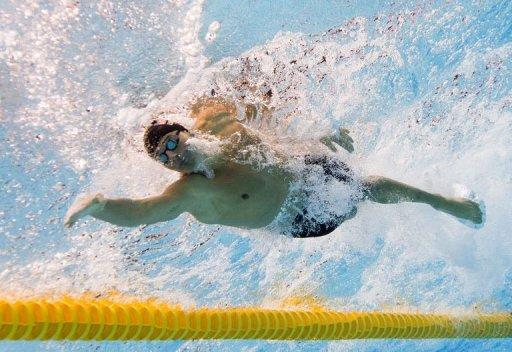 US swimmer Ryan Lochte competes in the men's 200m individual medley final