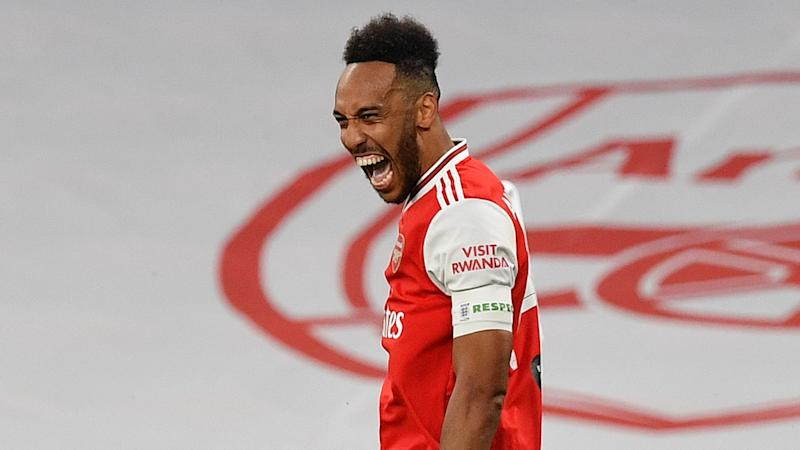 'He's the king!' - Aubameyang tipped to stay at Arsenal as Man Utd 'aren't bigger' than Gunners