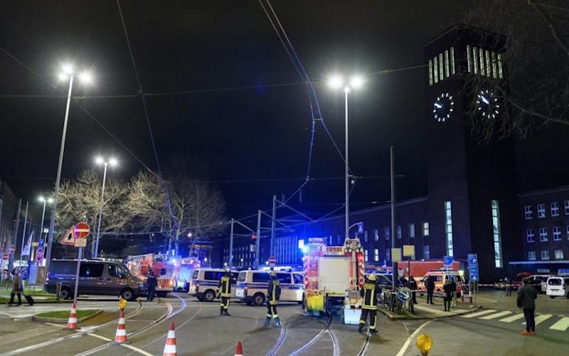 The Dusseldorf train station attack - Credit: Getty