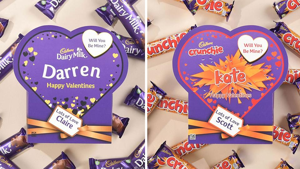 Cadbury has created Valentine's Day boxes filled with your favourite chocolate bar (Getting Personal/ Cadbury)