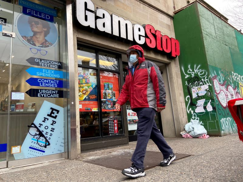 FILE PHOTO: FILE PHOTO: A GameStop store is seen in the Jackson Heights neighborhood of New York City