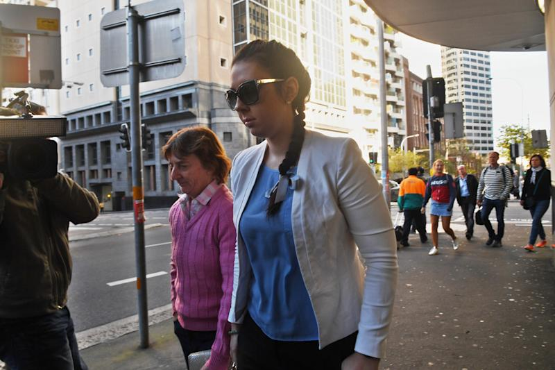 Melissa Higgins arrives at Downing Centre District Court. Source: AAP