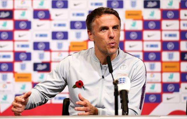 Neville spent three years in charge of the England women's side
