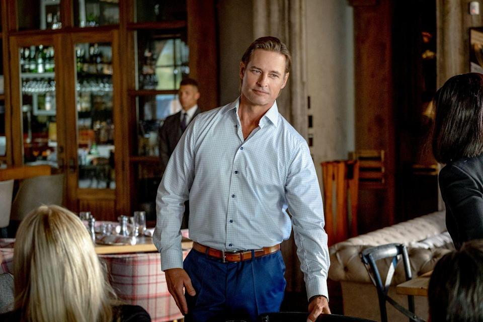 <p>A new character in season 3, Holloway portrays Roarke Morris, a hedge fund manager and the Duttons' biggest enemy. Hollow has been on TV shows like <em>Colony</em> and <em>Intelligence</em>, but you likely remember him as Sawyer on <em>Lost</em>.</p>