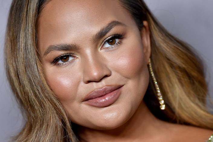 Model and cookbook author Chrissy Teigen revealed a new wrist tattoo in honor of her son Jack following her pregnancy loss just over a month ago. (Photo: Axelle/Bauer-Griffin/FilmMagic)
