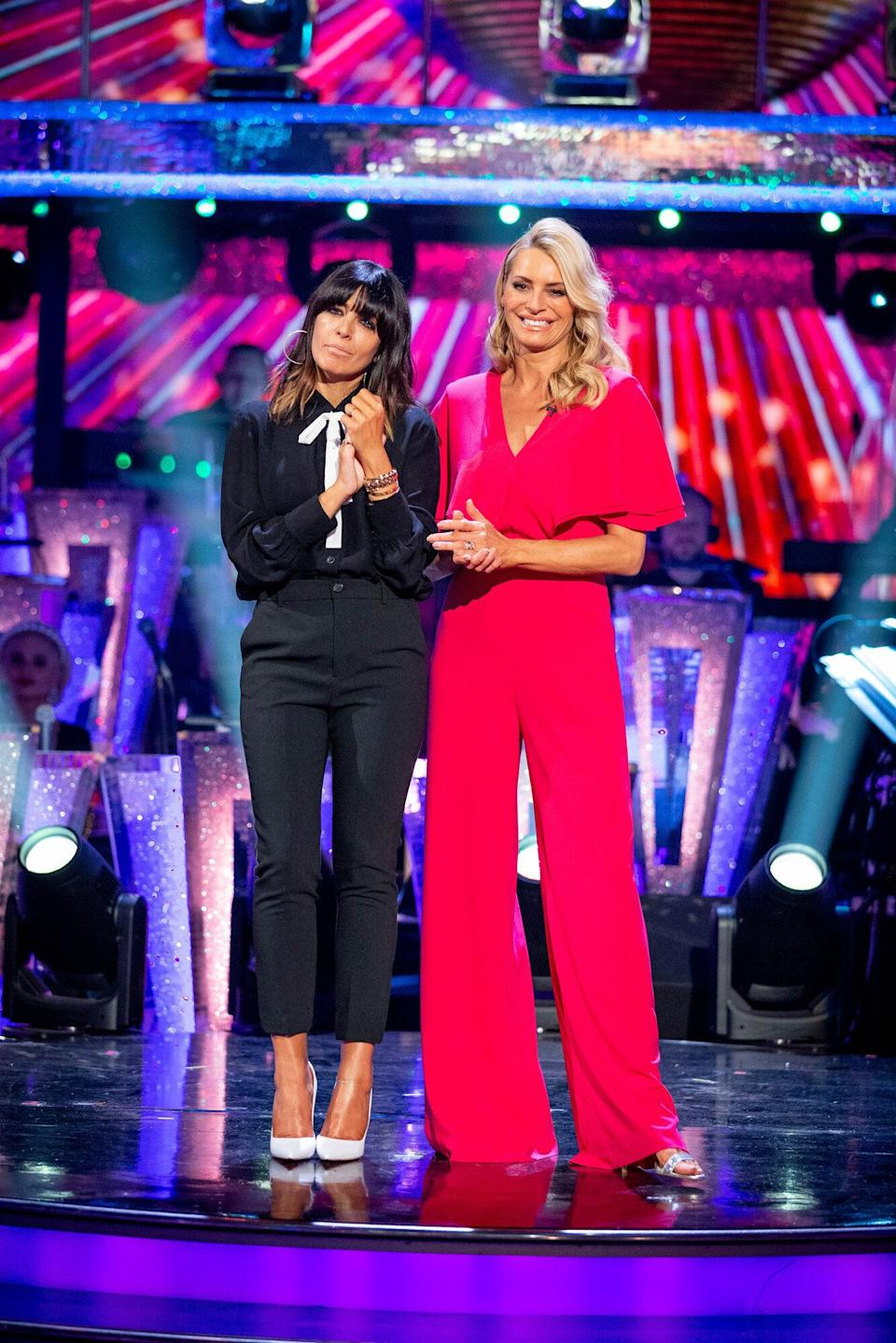 Tess with Strictly Come Dancing co-host Claudia Winkleman (Photo: BBC)
