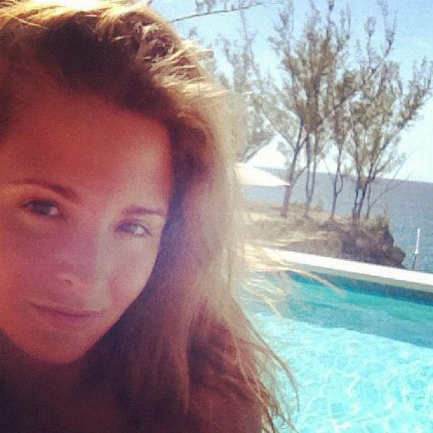 Celebrity Twitpics: Made in Chelsea's Millie Mackintosh gave us severe life envy with this Twitpic of her enjoying her holiday. She hasn't revealed where she's sunning herself but it looks divine.
