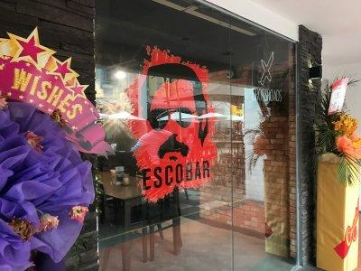 The Escobar bar entrance is seen in Singapore February 8, 2018. Picture taken February 8, 2018. REUTERS/Dewey Sim